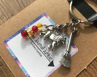 Harry Potter Gryffindor Keyring or Planner Charm