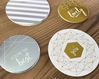 Metallic Geo Gift Tags, set of 4