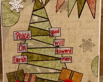 Peace on Earth Good Will to Men Canvas