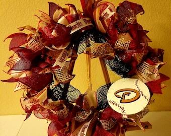 Arizona Diamondbacks Deco Mesh Wreath