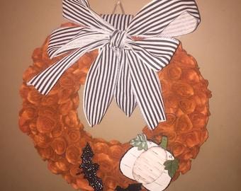 Primitive fall wreath