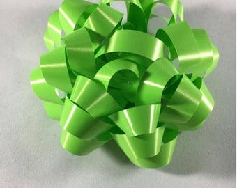 Lime Green Confetti Gift Bow