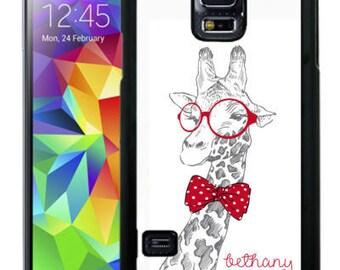 Personalized Rubber Case For Samsung S5, S6, S6 edge, S6 Edge Plus, S7, S7 Edge,  8, 8 plus -  Cute Sketched Giraffe