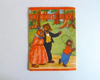 Vintage 1940s The Three Bears Story Book