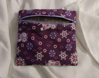 Purple and gray owls bag