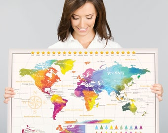 Scratch map etsy scratch off world map 50 us states xl europe extra large size 34 gumiabroncs Image collections