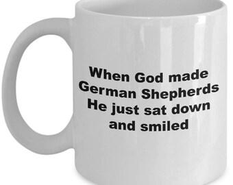 Funny German Shepherds Mug - German Shepherds Sat Down And Smiled