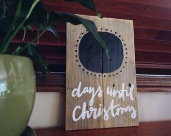 Countdown till christmas chalkboard