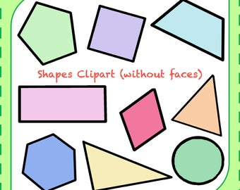 Sale! Shapes Clipart, Math Clipart, Shapes Vector Images, Clipart png, Digital Clipart, Graphic, Instant Download