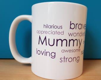 Mummy/Mum Words Mug