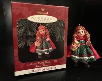 Hallmark Keepsake Ornament - Little Red Riding Rood- 1991 (Madame Alexander) 1997