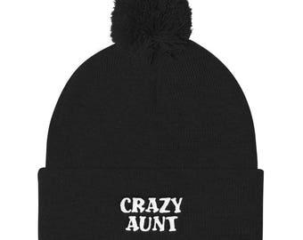 Crazy Aunt Pom Pom Knit Cap
