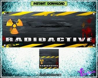Facebook Cover and Profile Image Design Set , radioactive Design.