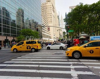 New York City, Photography, City Scene, Taxi, NYC