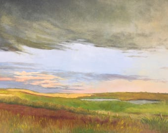 Passing Storm Original Oil Painting on Canvas, Framed