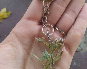 Real floral keychain