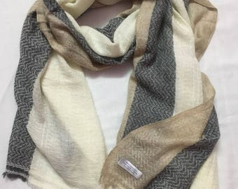 100% Cashmere Blend scarf,shawl or wrap hand weaved fine knit in Nepal,xmas gift