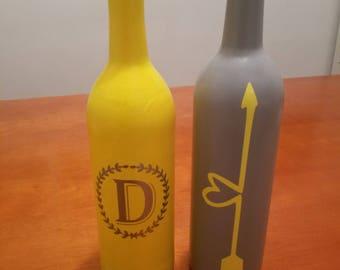 Custom made wine bottles