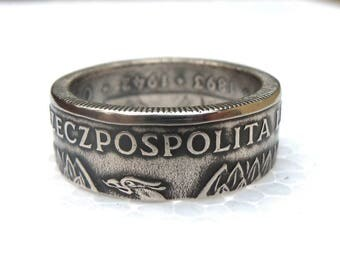 Polish souvenir Coin Ring - Souvenir from Poland - 20 zlotych - Coin ring - Rings from Coins - Polski złotyh