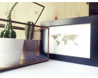 MAP embroidered frame.