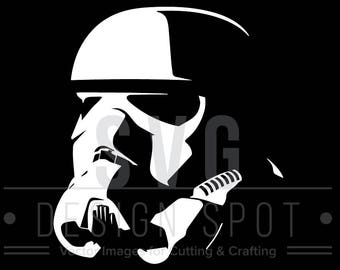 Storm Trooper Head Angled SVG, Dxf, Eps, Png - Star Wars Svg Files, Star Wars Vector Graphic, Storm Trooper Head SVG File, Instant Download