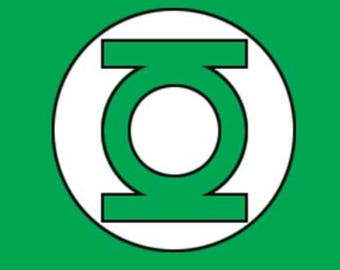 Green Lantern Symbol - Digital Print