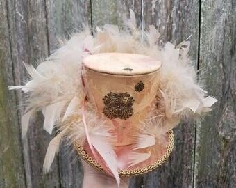 Mini top hat with lights, Steampunk, Mardi Gras, Halloween, Wedding, Festival
