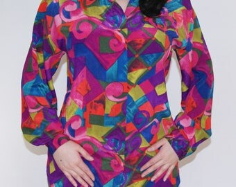 Christie and Jill Multicolor Geometric Blouse