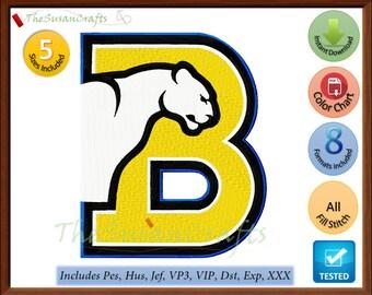 Birmingham PANTHERS EMBROIDERY DESIGNS Pes, Hus, Jef, Dst, Exp, Vp3, Xxx, Vip