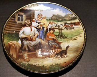 The Bradford Exchange Village Life in Russia Collector Plate