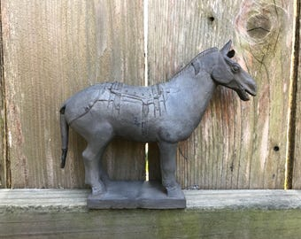 Vintage Clay Chinese Horse