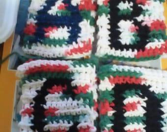 Custom Lettered Crochet Gift Bags