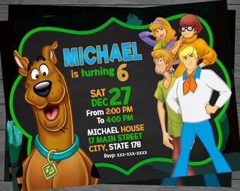 Scooby Doo Birthday Invitation, Scooby Doo Birthday, Scooby Doo Invitation, Scooby Doo Party, Scooby Doo Invite, Scooby Doo Printable