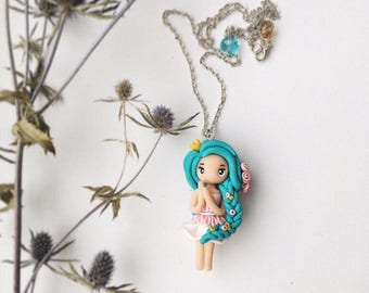 cute handmade doll. suspension. gifts for a love holiday. a miniature doll. mint doll for you.