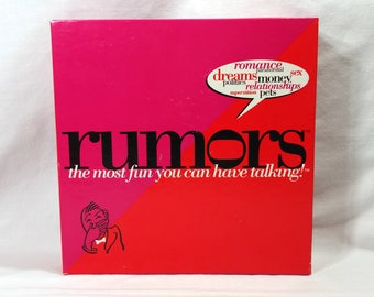 Vintage 1997 Rumors Game The Most Fun You Will Ever Have Talking 100% Complete