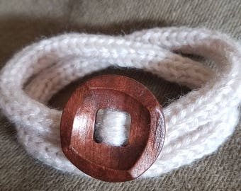 Bracelet Knit Yarn Cuff/Bracelet