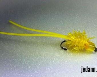 Glow Beadhead Ice Fly Bluegill Bass Crappie