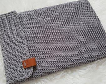 Crochet Laptop Sleeve/tablet cover custom