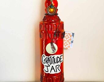 Gratitude Jar with Upcycled Jewelry - Wisdom