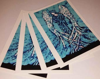 Cards BLUE ANGEL 4 notecards