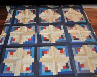 Beautiful Silk Patchwork Quilt Bed Cover