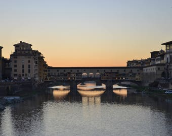 Sunset on Ponte Vecchio