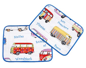 "Set of two placemats Connie ""Mini Vans"""