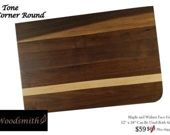 2 Tone Corner Round Cutting Board