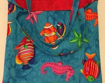 Handmade Reversible Fish Bag
