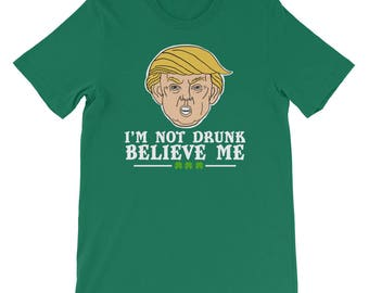 St Patricks Day Drinking Funny Trump T-Shirt