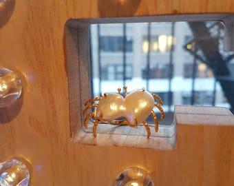 Baroque Pearl Crab Ring 20170005