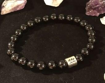 Black Onyx Gemstone Bracelet 8mm