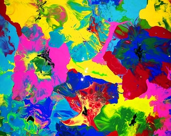 Original painting Flowers- Abstract