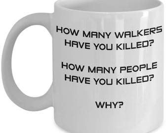 Walking Dead Coffee Mug   Rick's 3 Question Mug   Walking Dead Decor   The Walking Dead   Walking Dead   Day Of The Dead   Walking Dead Mug